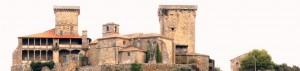 Construído no siglo XV por Sancho Sánchez de Ulloa. No 1492 constrúese dentro do recinto o Hospital de Peregrinos. Foi no castelo de Monterrei onde se instalou a primeira imprenta galega. O Misal de Monterrei é considerado o primeiro libro impreso en Galicia.